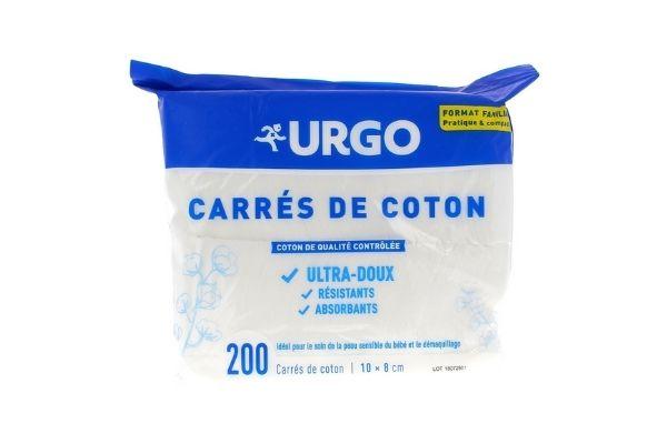 Urgo Carré de Coton Lot de 2 sachets - sachet de 200 carrés de coton